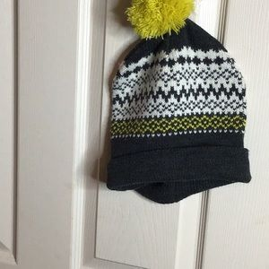 Gray Beanie with Puff
